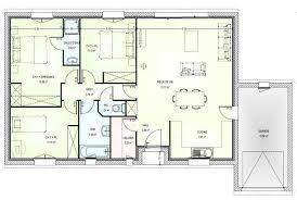 plan plain pied 5 chambres plan maison neuve construire marc junior open plain pied 95 de
