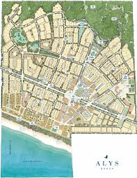Map Of Panama City Beach Florida by Map Of Available Property Alys Beach