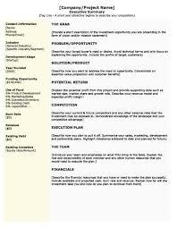 sample business plan executive summary yaruki up info template