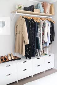 Clothing Storage Ideas For Small Bedrooms | using the idea of low drawers shoe storage with rail above for