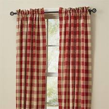 Red And White Buffalo Check Curtains Buffalo Check Curtains Ebay