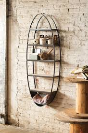 and metal oval shelf