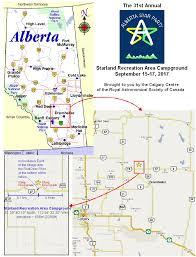 Calgary Alberta Canada Map by Rasc Calgary Centre Alberta Star Party 2017