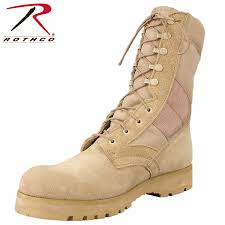 Most Comfortable Military Boots Rothco 6 Inch Forced Entry Desert Tan Deployment Boot