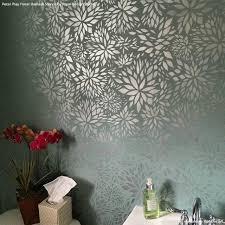 Damask Wall Decor Romantic Floral Damask Stencil Flower Pattern By Bonnie