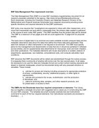 nsf eng data management plan template engineering