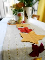 Leaf Table Runner Greening Martha Eco Chic Autumn Table Runner U2013 Shiny Happy People