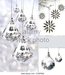ornaments against silver stock image