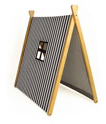 wooden tent a frame tent black stripes curioo wooden toys