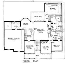 plan42 southern style house plan 3 beds 2 00 baths 1900 sq ft plan 42 209