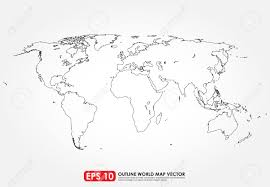 flat world map outline royalty free cliparts vectors and stock
