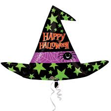 halloween foil balloons halloween witch hat supershape xl foil balloons 37