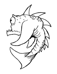 prehistoric monster fish coloring pages color luna