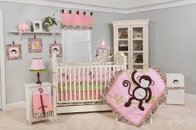 Decor For Baby Room Bedroom Beautiful Pink Details Inside Spacious Monkey Bedroom