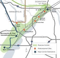 Minneapolis Light Rail Map Transit Study Riverview Corridor