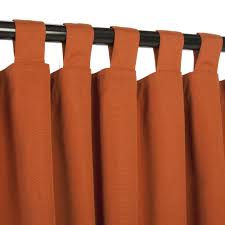 plenteous homemade orange curtains hang on black painted iron rods