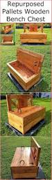 repurposed pallets wooden bench chest wood pallet furniture