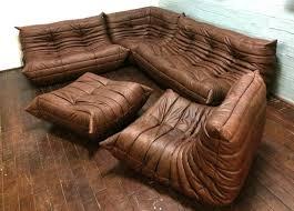 ligne roset vintage togo leather living room set by michel ducaroy for ligne