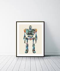 the iron giant modern retro graphic portraits with vintage