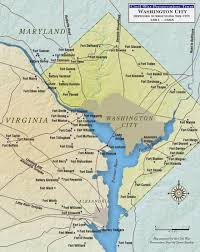 Picture Of Map Of Washington by Washington City Defenses Surrounding The City Civil War Trust