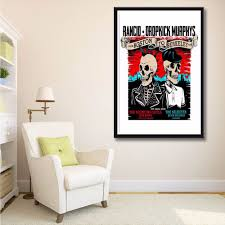 canvas painting music promotion shop for promotional canvas x118 new rancid dropkick murphys hot custom heavy metal music band a4 art print poster silk light canvas painting home decor w