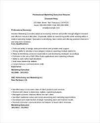 Marketing Executive Resume Sample by 59 Executive Resume Templates Free U0026 Premium Templates