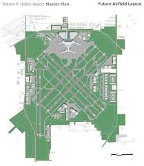 Airport Floor Plan by William P Hobby Airport L Ds Architects Planners