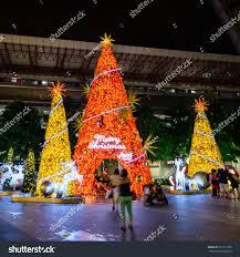 singaporenov 26 2015 christmas tree decoration stock photo