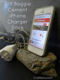 diy charging dock cement iphone stand craftbits com