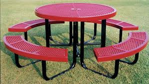 Commercial Picnic Tables by Thermoplastic Picnic Tables Coated Metal Picnic Tables