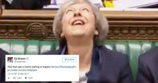 Meme Laugh - theresa may laughs awkwardly in parliament instantly becomes meme