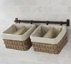Bathroom Baskets For Storage Basket Wall System Small Pottery Barn