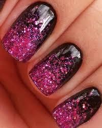 black and pink glitter gel nails spa u0026 beauty pinterest