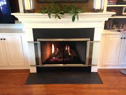 heat slim line gas fireplace front new bronze with blower insert