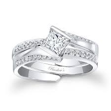 bridal sets barkev s white gold princess cut bridal set 7880s barkev s