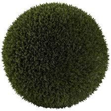 Eugenia Topiary Cedar Indoor Outdoor Artificial Silk Ball Topiary Plant 19