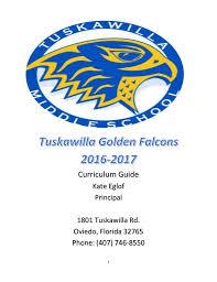 curriculum guide tuskawilla middle u003e home