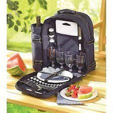Picnic Basket Set For 4 Unbranded Picnic Baskets U0026 Backpacks Ebay