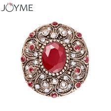 big vintage rings images Joyme india antique ring men big oval red resin charm roman royal jpg