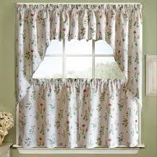 24 Inch Kitchen Curtains Garden Floral Jacquard Kitchen Curtains 24 Inch 36 Inch