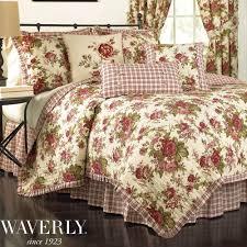 Antique Rose Comforter Set Bed U0026 Bedding Beautiful Waverly Bedding For Cozy Bedroom