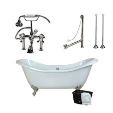 morris 72 inch acrylic slipper clawfoot tub package