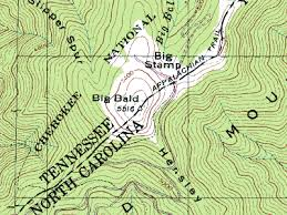 interstate 26 map big bald climbing hiking mountaineering summitpost
