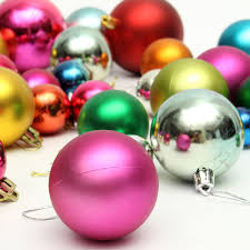 36pcs mixed christmas bubble ball christmas tree hanging ornament