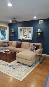 blue accent wall blue paint color seaworthy by sherwin williams perfect for living