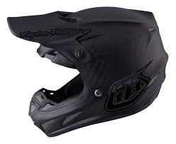 black motocross helmet troy lee se4 midnight carbon helmet revzilla