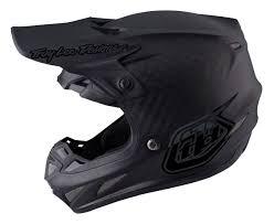 helmets motocross troy lee se4 midnight carbon helmet revzilla