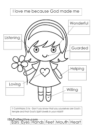 preschool creation coloring sheets throughout god made me page