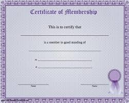 membership certificate templates membership certificate template