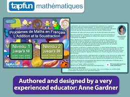 math word problems in french designed for kindergarten and first